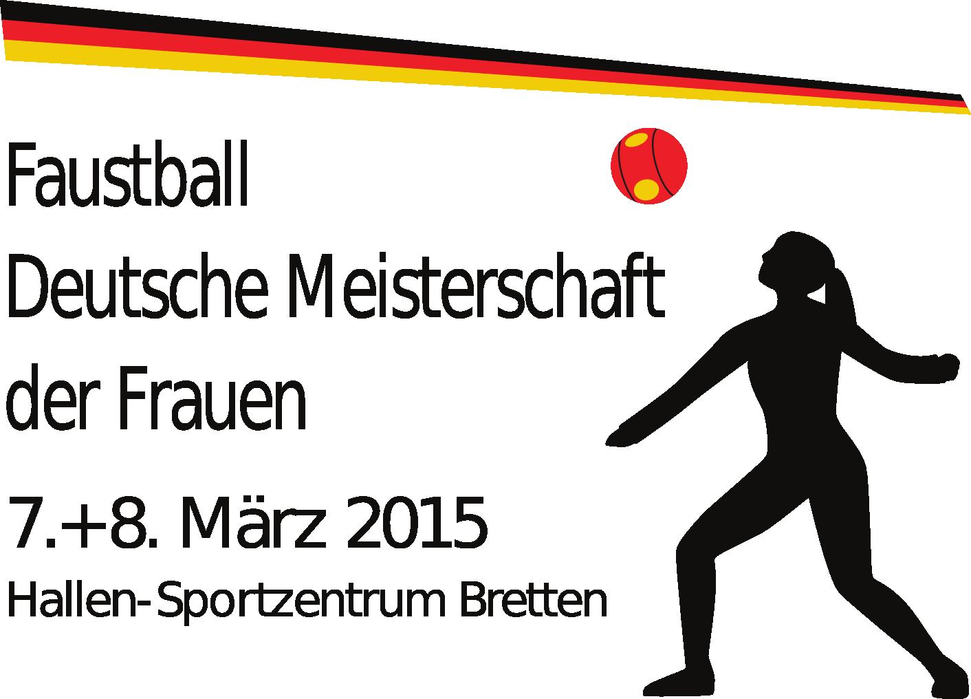 Logo Deutsche Meisterschaft der Frauen im Hallenfaustball 2015